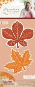 Sara Signature Autumn Morning Metal Die Leaves are Falling, Orange