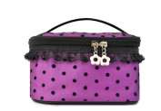 Fletion Polka Dot Lace Professional Cosmetics Bags New Handbags High Capacity Portable Storage Bag