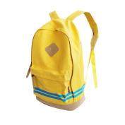QHGstore Hit Laptop Colore tela di corsa esterna Zaini sacchetto di scuola studente spalla giallo