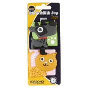 Korbond Cute Pets Bag Tags, Plastic, Multicoloured