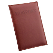 Women & Men Fashion Faux Leather Travel Passport Holder Cover ID Card Bag Passport Wallet Protective Sleeve Storage Bag