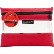Lyle Seeyourstuff Clear Storage Bag 15cm x 20cm -Red