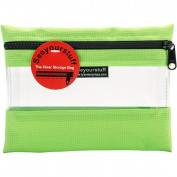 Lyle Seeyourstuff Clear Storage Bag 15cm x 20cm -Lime green