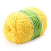 Baby Yarn Skein Worsted Natural Silk Wool Fibre 50G Super Soft Smooth