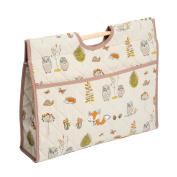 Hobby Gift HGCB/238   Woodland Fox Print Craft/Knitting Storage Bag 11x43x33½cm