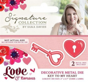Sara Signature Love and Romance Die Key To My Heart, Red