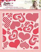 Sara Signature Romance Folder In Love, Red, 15cm x 15cm