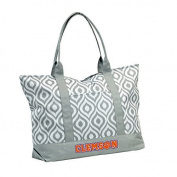 NCAA Clemson Women's Ikat Tote Bag by Logo Inc.