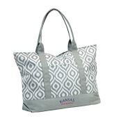 NCAA Kansas Women's Ikat Tote Bag by Logo Inc.