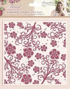 Sara Signature Floral Delight Embossing Folder Swirls, Pink, 15cm x 15cm