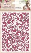 Sara Signature Floral Delight Embossing Folder Stylish Swirls, Pink, 13cm x 18cm