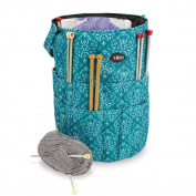 Knitting Bucket Bag, Sewing Accessories And Craft Needle Storage Organiser In Imperial Teal