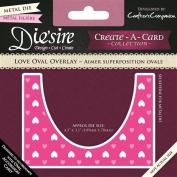 Die'sire Create a Card Love Oval Overlay, Purple