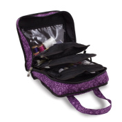 Sewing Accessories Case, Knitting and Craft Organiser Storage Bag in Imperial Purple