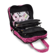 Sewing Accessories Case, Knitting and Craft Organiser Storage Bag in Imperial Pink