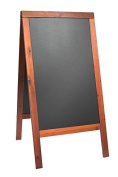 Securit Lacquered Sandwich Pavement Chalk Board, Hard Wood, Mahogany, 70 x 120 cm
