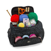 Knitting Bag Sewing Accessories And Craft Needle Storage Organiser Case in Imperial Black