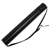 Sonline Black Plastic Drawing Picture Storage Tube Poster Scroll Holder