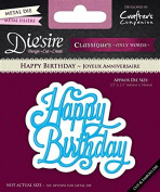 "Crafter's Companion Diesire ""Classiques"" Only Words Happy Birthday, Purple"