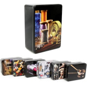 14CM TIN STORAGE CONTAINER BOX LID NOVELTY organiser JEWELLERY CARD ACCESSORIES