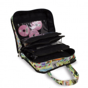 Sewing Accessories Case, Knitting and Craft Organiser Storage Bag in Retro Print
