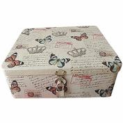box tin tiny small decorative metal nostalgia queen crown butterflies