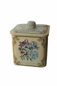 box tin tiny small decorative metal nostalgia flowers sayings mother