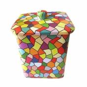 box tin tiny small decorative metal nostalgia mosaic primary colourful