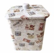 box tin tiny small decorative metal nostalgia top handle stamps