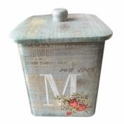 box tin tiny small decorative metal nostalgia monogram can holder