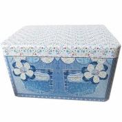 box tin tiny small decorative metal nostalgia jeans flower pockets trendy