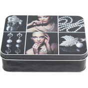 West5Products Useful Silver Jewellery Design Storage Tin
