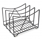 ESYLIFE Kitchen Chopping Board Storage Rack Cutting Board Holder (Hold up to 3), Black