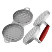 Inovey Aluminium Double Burger Press Hamburger Patties Maker Meat Press Kitchen Tools