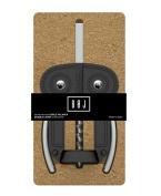 Boj Olaneta Double Lever Owl Style Corkscrew, Black, 30 x 30 x 30 cm