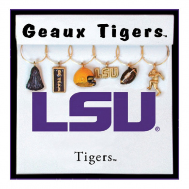 Wine Things Louisiana State University Painted Glassware Charms