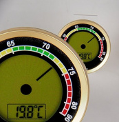 Calibre 4R Precision Hygrometer +/-1% rF Gold with Lifestyle Ambiente Tastingbogen