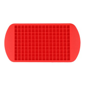 vLoveLife Red Food Grade Silicone 160 Cavity Small Ice Cube Maker Tray Mould Moulds Ice Maker for Kitchen
