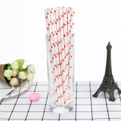 HLHN Star Pattern Drink Paper Straws Decorative Drinking Birthday Party Theme Festivals 25PCS