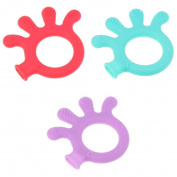 MagiDeal 3 PCS Infants Safe Cartoon Toys Silicone Molar Rod Teether Toys