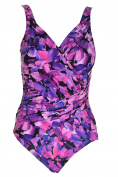 Kirkland Signature Womens Contrast Trim Swimwear One-Piece Swimsuit