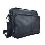 Firetrap Quilted Flight Bag Black Messenger Shoulder Bag Holdall Carryall W:40 x H:28 x D:10