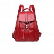 Ladies Casual Shoulder Bag Fashion Wild Soft Leather Backpack