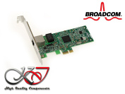 Kalea Informatique Gigabit Ethernet PCIe Network Card Broadcom NetXtreme Chipset BCM5751 – bcm95721 a211 with equerres High and Low Profile