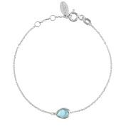 Pisa Mini Teardrop Bracelet Silver Blue Topaz