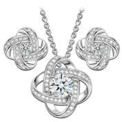 """NINASUN """"Silk of Love"""" 925 Sterling Silver Women Necklace Earrings Jewellery Set"""