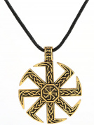 Vikings Slavic Kolovrat Sun Wheel Necklace Double Sided Pendant Celtic Norse Talisman Gifts Jewellery