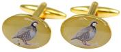 Gold Legged Country Partridge Cufflinks by David Van Hagen