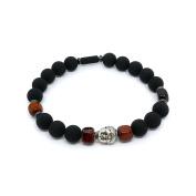 Bull # X153; it & Lava Stone Buddha Beads Bracelet