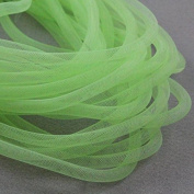 Beads4Crafts Green Crinoline Tube 8mm (1 Metre) CC707